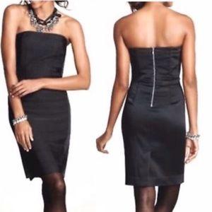 Ann Taylor black Strapless Grosgrain Dress Size 0P